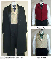 Men's Victorian Western Frock Coat Vest Costume Sewing Pattern Laughing Moon 109