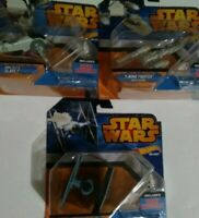 Set of 3. HOT WHEELS MINI STAR WARS SHIPS.BOBBA FETT NIB