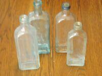 Set of 4 Vintage R.V. Pierce, M.D. Buffalo, N.Y. Medicine Bottles