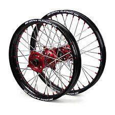 "Honda CR250 2002 2003 2004 2005 2006 Wheels Set Red Black 19"" 21"" Wheel Rims"