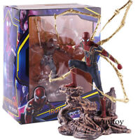 Avengers Infinity War Iron Spiderman Statue PVC Action Figure Collectible Toy