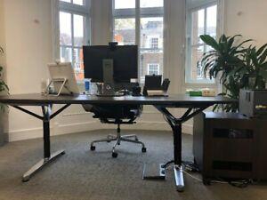 large office meeting boardroom table Bene brown