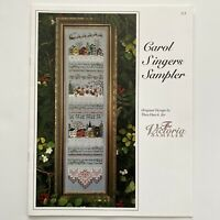 The Victorian Sampler CAROL SINGERS Cross Stitch Pattern Winter Snow Christmas