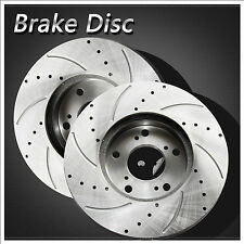 Front Set OE Upgrade [Drilled+Slotted+Vented] Disc Brake Rotors Left+Right Pair
