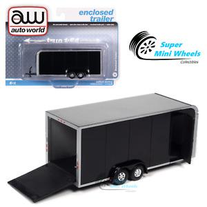 Auto World 1:64 - Enclosed Trailer (Black) AWSP072B