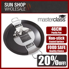 100% Genuine! MASTERCLASS Non-stick 46cm Paella Pan Black! RRP $59.99!