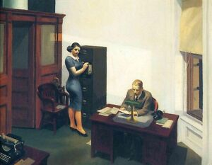 Edward Hopper - Office At Night Giclee Poster Print