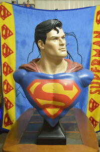 Classic SUPERMAN LIFE SIZE 1:1 BUST Muckle Mannequins Rare Limited Edition
