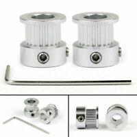 5Pcs gt2 timing pulley 20t 5//6.35//8mm bore for 6mm belt reprap 3d printer UE