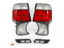 DEPO 89-96 BMW E34 4DR EURO RED / CLEAR TAIL LIGHTS+CORNER SIGNALS+SIDE MARKERS