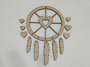 MDF Dream Catcher Heart Wheel, Make Your Own Dreamcatcher KIT Embellish