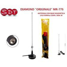 """DIAMOND """"ORIGINALE"""" MR-77S ANTENNA CON BASE MAGNETICA 144/430MHz CONN. SMA-M"""