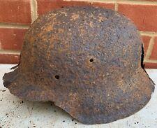 Original WW2 Normandy Relic German Army Helmet - #8