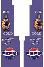Pepsi  Cola Northwestern  Vending Machine Front Panel Sticker Decal