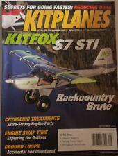 Kit Planes Sept 2017 Kitfox S7 STI Backcountry Brute  FREE SHIPPING mc