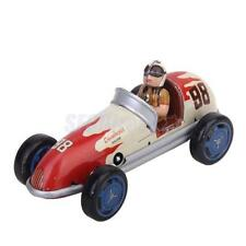 Vintage Wind Up Retro Racing Car Mechanical Clockwork Model Toy Collectibles