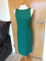 Ladies DORMEUIL Couture Dress Size 12 Shift Green Smart Office Work