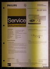 PHILIPS Service Dokumentation 22 GF 603, 04/1973, original + komplett