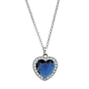 Famous The Heart Of Ocean Necklace Large Heart Crystal Female Jewelry Gifts