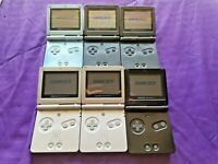Lot of 6 Nintendo Game Boy Advance SP AGS-101 & AGS-001  - Tested and Working
