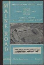 Sheffield Wednesday Home Teams S-Z Football Programmes