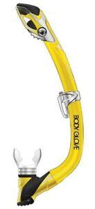 Body Glove Jr. Vapor Pro Series Professional Silicone Snorkel Yellow Purge Valve