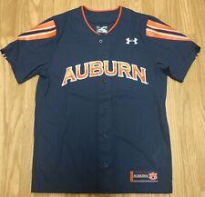 Under Armour Auburn Tigers Navy Performance Replica Baseball Jersey Size XL