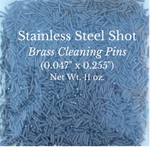 """Stainless Steel Shot for cleaning,burnishing Brass Casings  (Pins .047"""" x .255"""")"""