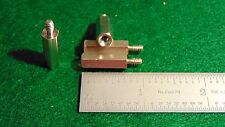 """(8) Concord Nickel Plated Brass Threaded Stand-off 1/4""""Hex x 3/4""""L 6x32 Nos"""