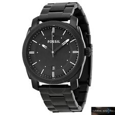 Fossil Machine Black Stainless Steel Bracelet FS4775 Mens Watch RRP £119