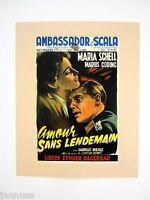 alter Film Druck hinter Passepartout So Little Time Maria Schell 50x40cm 398