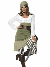 Womens Shipmate Sweetie Pirate Fancy Dress Costume Caribbean Ladies Outfit