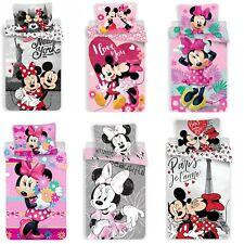 Minnie Maus Disney Jugend Kinder Bettwäsche Set 135x200 Bettwaren Garnitur NEU
