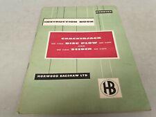 1960 HORWOOD BAGSHAW CRACKERJACK Disc Plow & Seeder Instruction Book