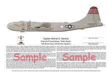 2 Prints, B-29 & Japanese Fighter Ace, Aviation Art, Ernie Boyette