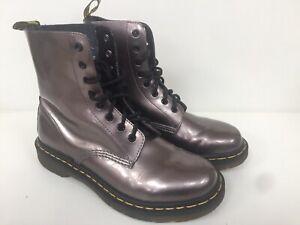 Women's Leather Dr Martens Pascal Boots Uk7 EU41 Rare Metallic Boots