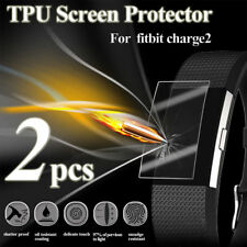 2 X Full Face Coverage TPU 3D Film Screen Protector For Fitbit Charge 2 Watch