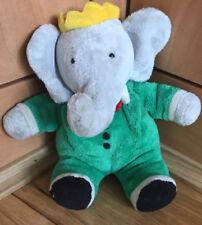 "Babar Peluche Jouet GUND vintage 7"" Bean Toy Elephant Jean de Brunhoff Rétro Rare"