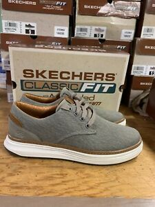 New Skechers Men's Canvas Oxford Moreno Ederson Taupe Casual Shoe Pick Size