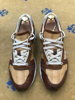 Gucci Men's Shoes Brown Leather Suede Trainers Sneakers UK 6.5 US 7.5 40.5 Croc