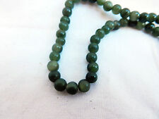 String of Spinach Jade Beads / Necklace, Jewellery Making (B)