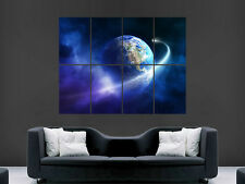 ASTEROID MISSES EARTH  SPACE  ART WALL PICTURE POSTER  GIANT HUGE