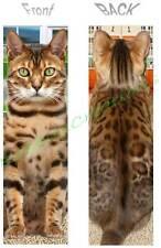 BENGAL CAT BOOKMARK Asian Leopard ART Figurine Book Mark Card Holiday Ornament