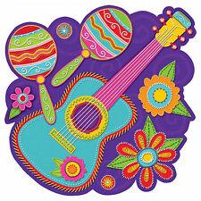 2 Wild West Mexican Fiesta Summer BBQ Party Guitar Maracas Cutout Decorations