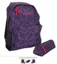 Carbrini school unisex Backpack and Pencil Case Set 17 Litre Purple 339397522