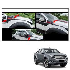 Side Hood Vent Simulator Black Red Trim 2Pc For Chevrolet Holden Colorado 2017 +
