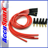 AccuSpark CTL 8mm High Performance Silicone Red HT Leads For  4cyl Cars