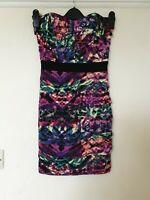 Lipsy Bandeau Strapless Bodycon Dress Size 8