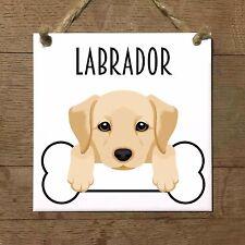 LABRADOR cane cucciolo osso piastrella targa