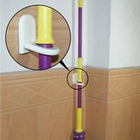 Wall Mounted Mop Organizer Holder Brush Broom Hanger Storage Rack Kitchen Tool